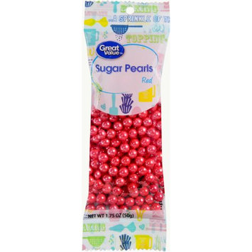 Wal-mart Stores, Inc. Great Value Red Sugar Pearls, 1.75 oz