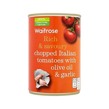 Italian Tomatoes with Olive Oil & Garlic Waitrose 400g - Pack of 2