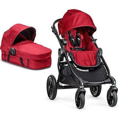 Baby Jogger City Select Black Frame Stroller w/ Bassinet Kit, Red - 2014