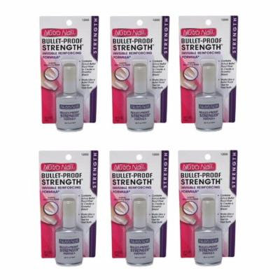 Nutra Nail Bullet-Proof Stength Formula + High Gloss Top Coat (Pack of 6) + Beyond BodiHeat Patch, 1 Ct