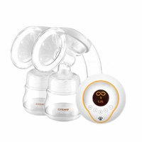 New 2018 Double bottle Breast Pumps Large Suction PP material breast feeding automatic massage USB Electric breast pump