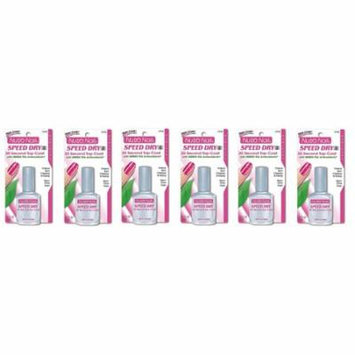 Nutra Nail Speed Dry 30 Second Top Coat with Green Tea Antioxidants (Pack of 6) + Beyond BodiHeat Patch, 1 Ct