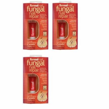 Kerasal Nail Fungal Nail Repair, 3 Month Supply 10ml (0.33 Oz) (Pack of 3) + Beyond BodiHeat Patch, 1 Ct
