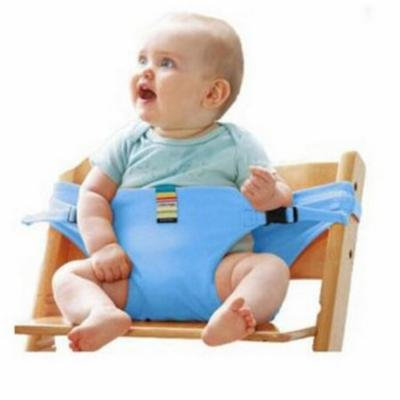 Baby Highchair Safety Belt Infant Chair Portable Seat Dining Lunch Chair Seat Safety Belt Stretch Wrap Feeding Chair Harness baby Booster Seat (Blue)