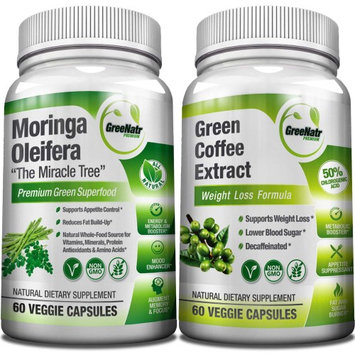 Greenatr Moringa Oleifera Green Coffee Bean Extract. Now sold together as a POWERFULL BLOOD SUGAR SUPPORT B