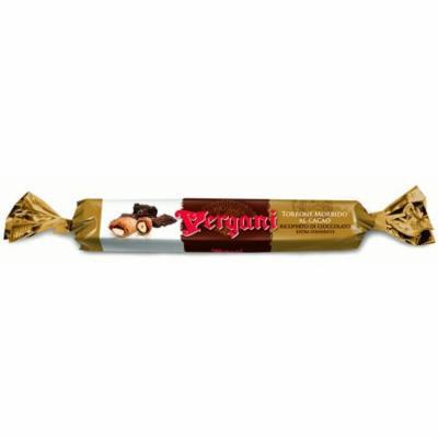 Vergani, Italian Dark Choc Coated Soft Cocoa And Almonds Torron Nougat 100g Cigar-Like (4 pcs)