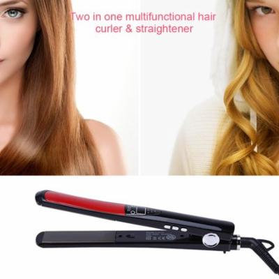 TMISHION Anti-Static Flat Iron Hair Straightener with Adjustable Temperature Control and LCD Display