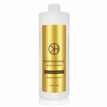 Brazilian Keratin Hair Treatment Professional Smoothing Complex Blowout with Argan Oil Improved Formula and Fragrance By Keratin Cure Formaldehyde Free Repair For all hair types (32 fl oz)