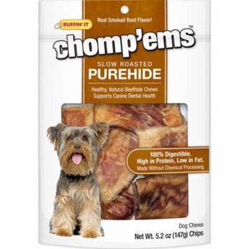 Smoked Beef Flavor - Ruffin' It Chomp'ems Purehide Chips 5.2oz Bag