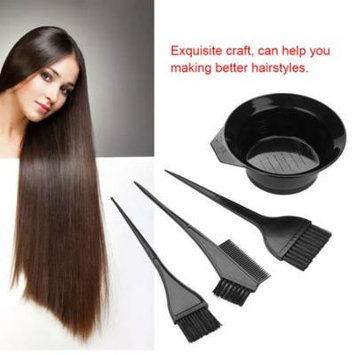 WALFRONT 4pcs Hair Coloring Brush and Bowl Set Professional Hair Salon Dyeing Perming Tools, Brush and Bowl Set, Coloring Bowl