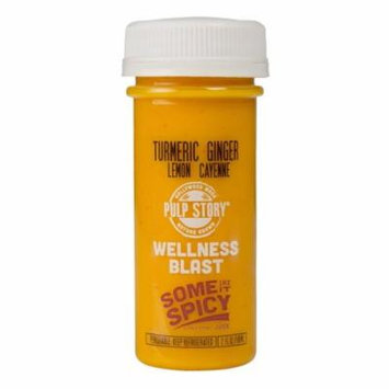 PULP STORY Some Like It Spicy Cold Pressed Turmeric Juice Health Shots, 2 Ounce Single Servings, 16 Count