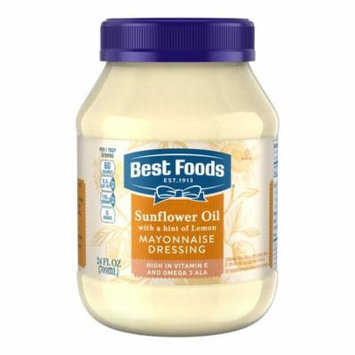 Best Foods Mayonnaise Dressing Sunflower Oil with a hint of Lemon