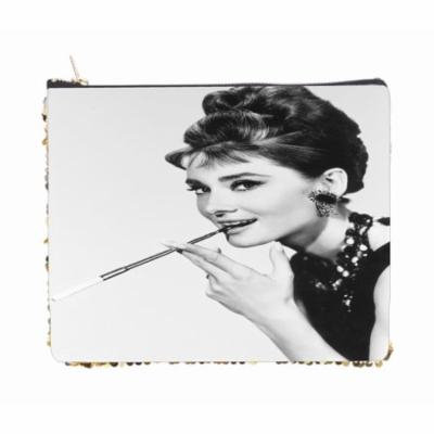 British Actress Audrey Hepburn Smoking - Double Sided 6.5