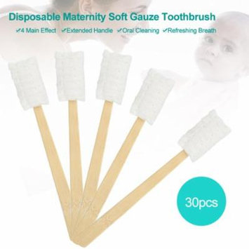 Yosoo 30pcs Disposable Maternity Soft Gauze Toothbrush Clean Teeth Oral Care for Pregnant Women Oral ,Soft Toothbrush, Pregnant Oral Care