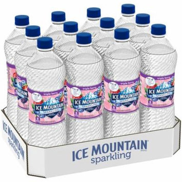 Ice Mountain Sparkling Natural Spring Water, Triple Berry, 33.8 Fl Oz, 12 Count