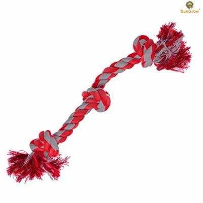 "2 Rope Toys for Dogs (20"") by SunGrow - Heavy Duty Cotton - Brightly Colored Chew Play Toys, Suitable for even Medium & Large Breed Dogs : Durable & Handwoven - Helps Maintain Healthy Teeth and Gums"