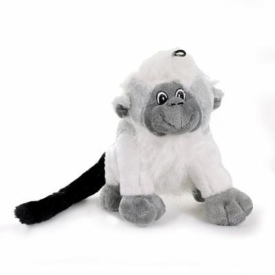 Knight Pet Plush Monkey Toy for Dogs, White