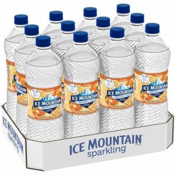 Ice Mountain Sparkling Natural Spring Water, Orange, 33.8 Fl Oz, 12 Count