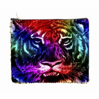 Rainbow Tiger Face - Double Sided 6.5