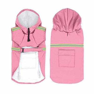 STAR-TOP dog Raincoat Adjustable Pet Water Proof Clothes Lightweight Rain Jacket Poncho Hoodies with Strip Reflective