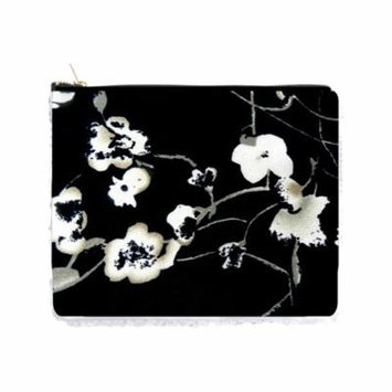 Black and White Flowers Print - Double Sided 6.5
