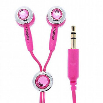 Victory Audio Video Services iPopperz Pink Crystal Binaural Earphone - Connectivity: Wired - Stereo - Earbud - Rough Rose