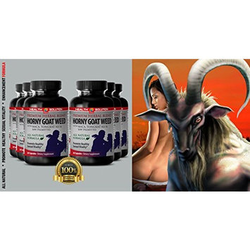 Saw palmetto with nettle root - HORNY GOAT WEED - enhance sex drive (6 bottles)