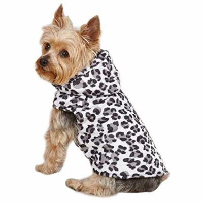Snow Leopard Dog Vest in White