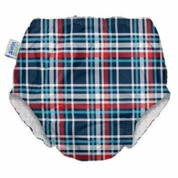 My Swim Baby Swim Diaper, Coastal Plaid, Small