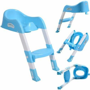Potty Ladder Baby Kids Toddler Potty Training Toilet Trainer Safety Seat Chair Step Ladder