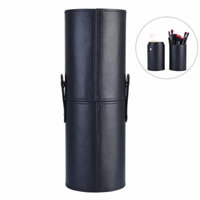 Pretty See Detachable Makeup Brush Holder High-capacity Cylindrical Cosmetic Storage Case, 9.1''x 3.1'', Black