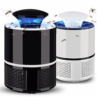 USB Powered Mosquito Killer Lamp Non-Toxic Electronic Bug Zapper Safe (Black)