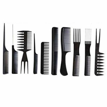 Plastic Hair Styling Barbers Comb Set for All Hair Types and Styles(10 Units)