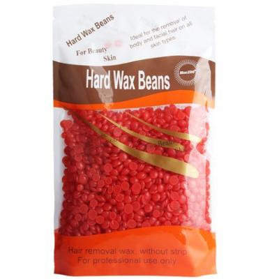 300g Skin Friendly Solid Depilatory Wax Hard Wax Beans for Full Body Hair Removal (Strawberry)
