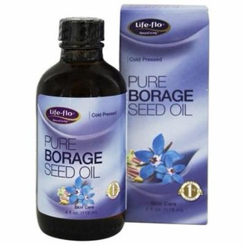 Pure Borage Seed Oil Cold Pressed - 4 fl. oz. by Life-Flo (pack of 2)