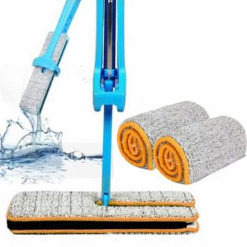 Mosunx Double Sided Non Hand Washing Mop Accessories Dust Push Mop Cloth Clean Tool