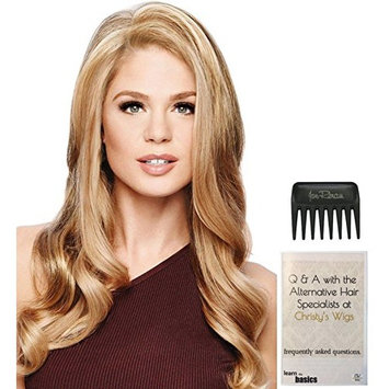 Bundle - 3 Items: Top Choice Hairpiece | Hair Topper by Gabor, Christy's Wigs Q & A Booklet & Wide Tooth Comb - Color: GL11-25SS