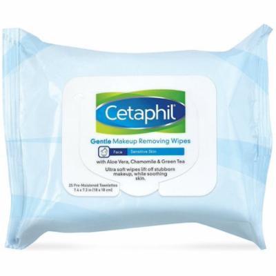 3 Pack - Cetaphil Gentle Makeup Removing Wipes 25 ea
