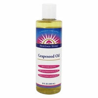 Grapeseed Oil 100% Pure Expeller Pressed Massage Oil - 8 fl. oz. by Heritage (pack of 1)