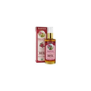 Body Oil Damascus Rose with Lavender & Chamomile - 4 fl. oz. by Badger (pack of 3)