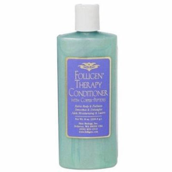 Folligen Therapy Conditioner w/Copper-Peptides Smoothes & Detangles Hair - 8 Oz
