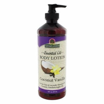 Essential Oil Body Lotion Coconut Vanilla - 16 fl. oz. by Nature's Answer (pack of 12)