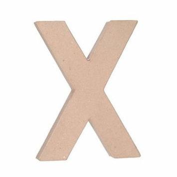 Paper Mache Letter: X - 12 inches