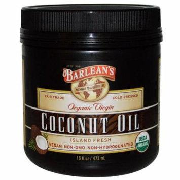 Barlean's, Organic Virgin Coconut Oil, 16 fl oz (pack of 3)