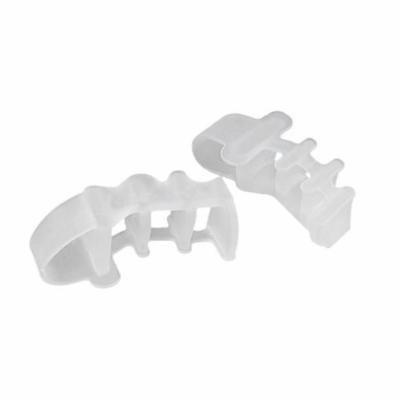 2Pcs Pinky Toe Separator Straightener 4 Loops Gel Toe Separators for Pinky Toe (White)