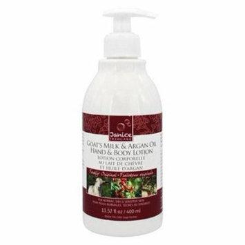 Goat's Milk & Argan Oil Hand & Body Lotion Freshly Original - 13.52 fl. oz. by Janice Skincare (pack of 12)