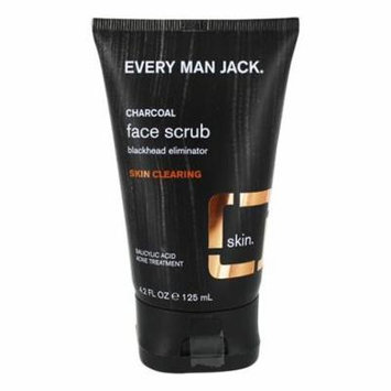 Face Scrub Skin Clearing Fragrance Free - 4.2 fl. oz. by Every Man Jack (PACK OF 12)