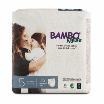 Bambo Nature Premium Baby Training Pants, Size 5 (26-44 lbs), 40 Count (2 Packs of 20)
