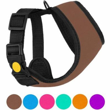 Soft Mesh Dog Harness Neoprene Puppy Padded Vest Adjustable Outdoor Pet Harnesses for Small Dogs, Brown