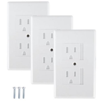Mommy's Helper Mommys Helper - Safe Plate Electrical Outlet Covers Standard, White - 3 Pk